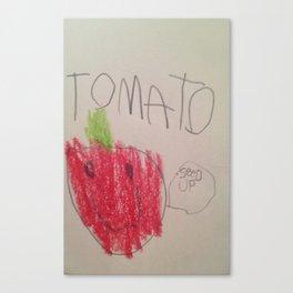Tomato Speaks Canvas Print