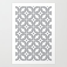 Starburst - Grey Art Print