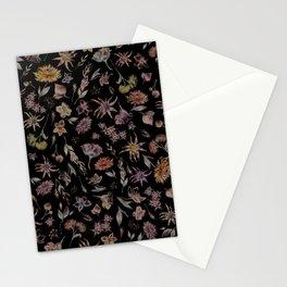 Botanical Study- Dark Colorway Stationery Cards