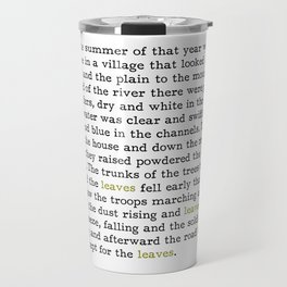 A Farewell to Arms - Leaves Travel Mug