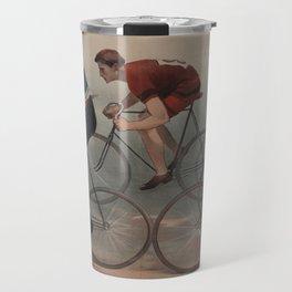 Vintage Cyclist Race Illustration (1896) Travel Mug