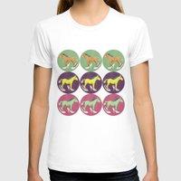 horses T-shirts featuring Horses by Lorenza Bluetiz