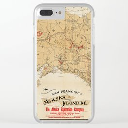 Map of Alaska 1898 Clear iPhone Case