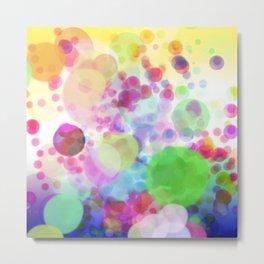 Happy Colorful Cells Metal Print