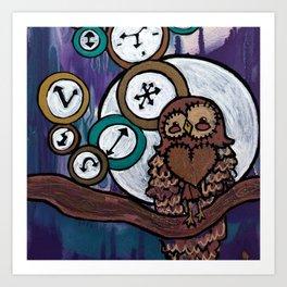 owl hours Art Print