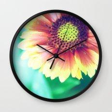 Fantasy Garden - Sunny Flower Wall Clock