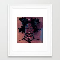 basquiat Framed Art Prints featuring basquiat by joseph arruda (zeruch)