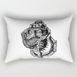 Seashell Detailed Illustration Rectangular Pillow