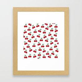 Cherries 1 (on white) Framed Art Print