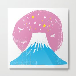 "Symbol of happiness ""Mount Fuji"" Japan Metal Print"