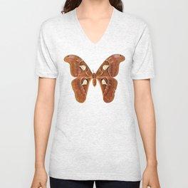 SKULL MOTH - Mystical Symbol Polarity Light Dark Subconscious Mind Control Butterfly Unisex V-Neck