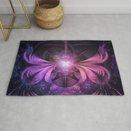 A Glowmoth of Resplendent Violet Feathered Wings Rug