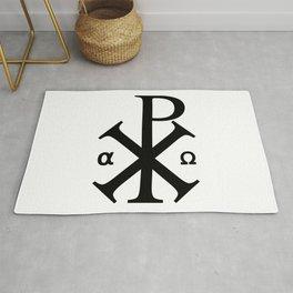 Chi Rho Christian Symbol Rug