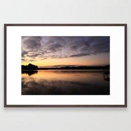 Rise up on the Lake Framed Art Print