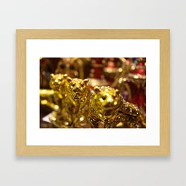 Golden Tigers of Dubai Framed Art Print
