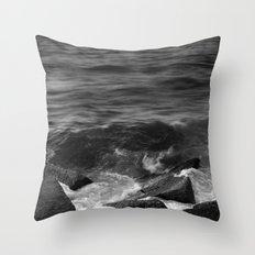 BEACH DAYS XX BW Throw Pillow