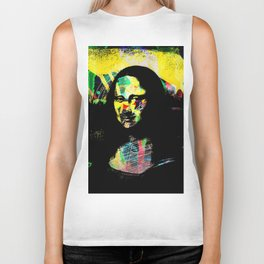 Mona Lisa POP ART PAINTING PRINT Biker Tank