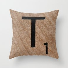 Tile T Throw Pillow