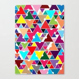 Abstract Invasion Canvas Print