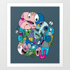 Incredulous Stare Art Print