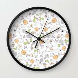 The Little Farm Animals Wall Clock