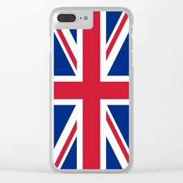 UK Flag Union Jack Clear iPhone Case