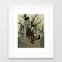 edgar allan poe Framed Art Prints featuring Edgar Allan Poe by Abigail Larson