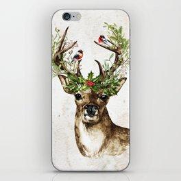 Rustic Christmas Deer iPhone Skin