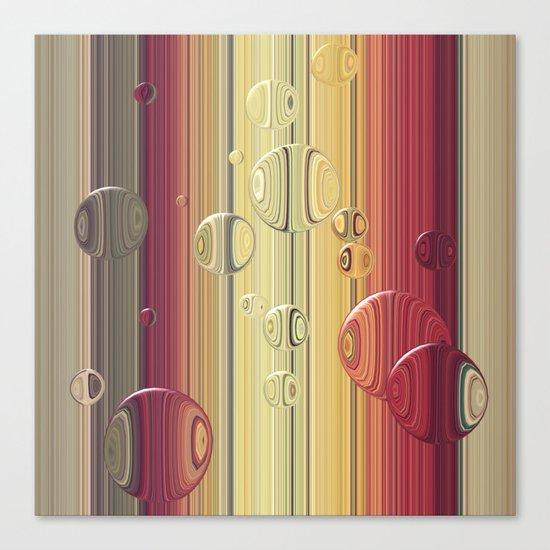 Lines/circles Canvas Print