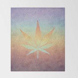 Cannabis sativa Throw Blanket