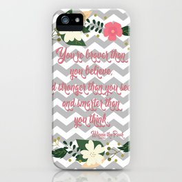 Pooh Inspirational Quote iPhone Case