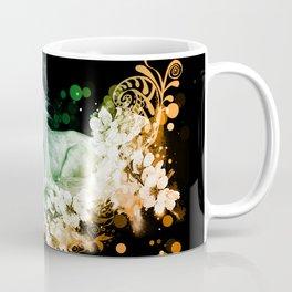 Wonderful unicorn with flowers Coffee Mug