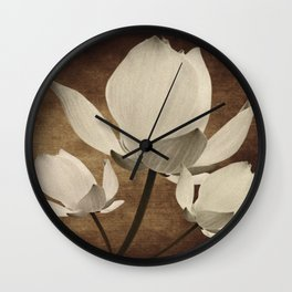 Vintage Flowers Digital Collage 10 Wall Clock