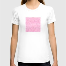 Sea of pink - a handmade pattern T-shirt
