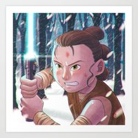 Use the force - Rey Tribute 2 Art Print