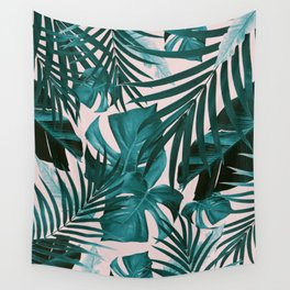 Tropical Jungle Leaves Pattern #3 #tropical #decor #art #society6 Wall Tapestry