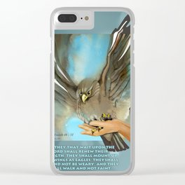 Wings Of Eagles Clear iPhone Case