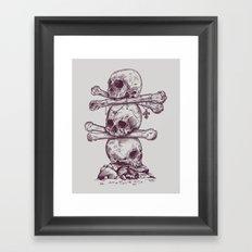 Skull Totem Framed Art Print