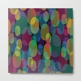 Oval Abstract Pattern Metal Print