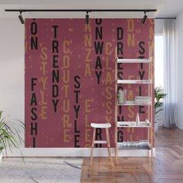 Fashion keywords Wall Mural