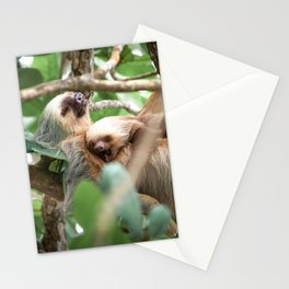 Yawning Baby Sloth - Cahuita Costa Rica Stationery Cards