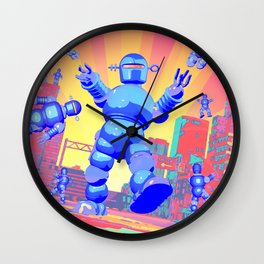 INVASION OF THE GIANT ROBOTS! Wall Clock
