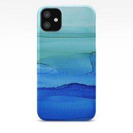 Alcohol Ink Seascape iPhone Case