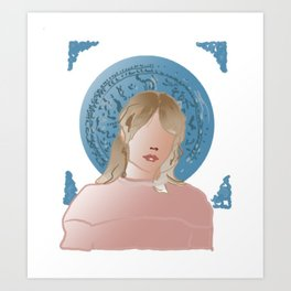 Promising young woman Art Print