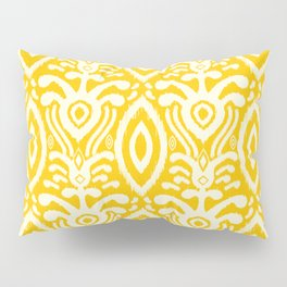 Yellow Ikat Pattern Pillow Sham