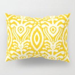 Yellow Ikat Pattern Pillow Sham