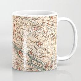 Vintage Map of Paris Coffee Mug