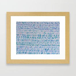 WAVES & SEAWEED Framed Art Print