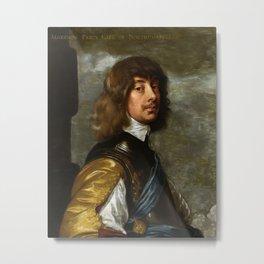 "Sir Anthony van Dyck ""Algernon Percy, 10th Earl of Northumberland"" Metal Print"