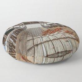 Autumn Lake Boardwalk Floor Pillow